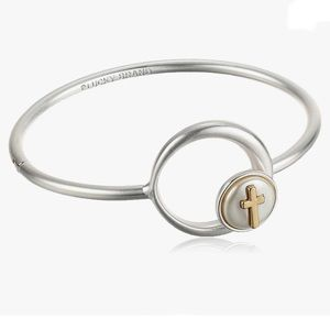 NWT Lucky Brand Cross Hinge Cuff Bracelet